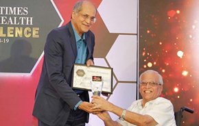 Dr Suresh Advani (R) presented The Times Health Excellence